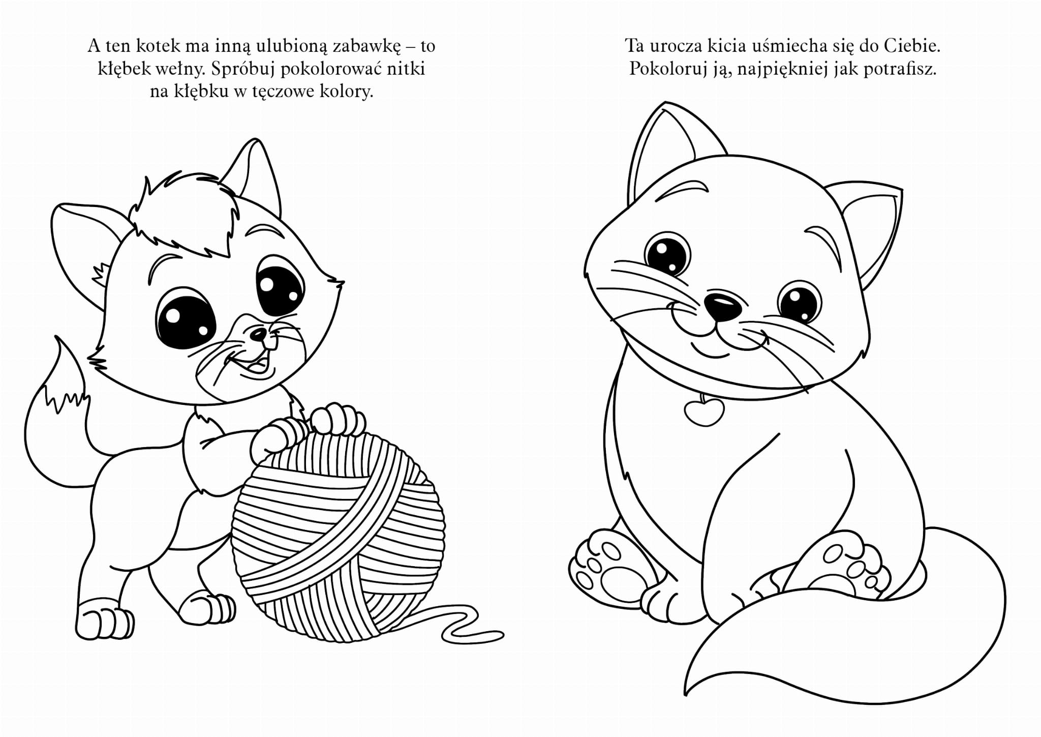 Moje Male Kotki Kolorowanka Z Naklejkami Z Brokatem Books And Fun